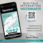 digitale interaktive Visitenkarte